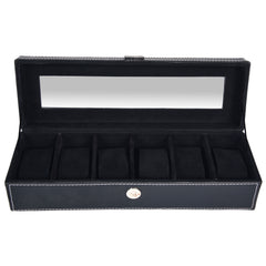 GLAM Watch Box for 6 Watches - Black - Nestasia Home Decor