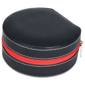 GLAM Round Zip Case Organiser - black red