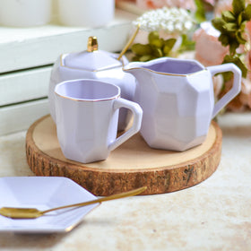 Modern Tea Set Purple