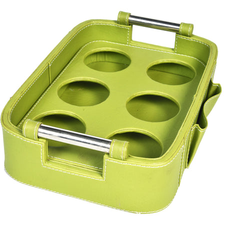GLAM Serving Tray with handle - Green