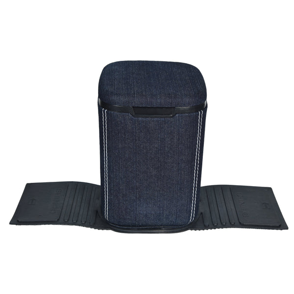 Nestasia Mini Car Dustbin with lid - denim jeans - waste paper storage box - rubber base for stability