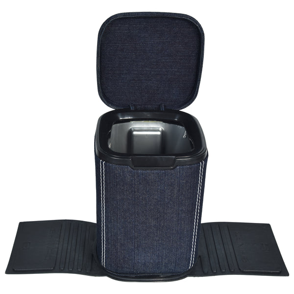 MARSHAL Mini Car Dustbin- Denim