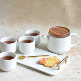 White Tea Set