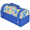 GLAM Travel Jewellery Vanity Box Trunk - Floral Blue White Case - Nestasia Home Decor