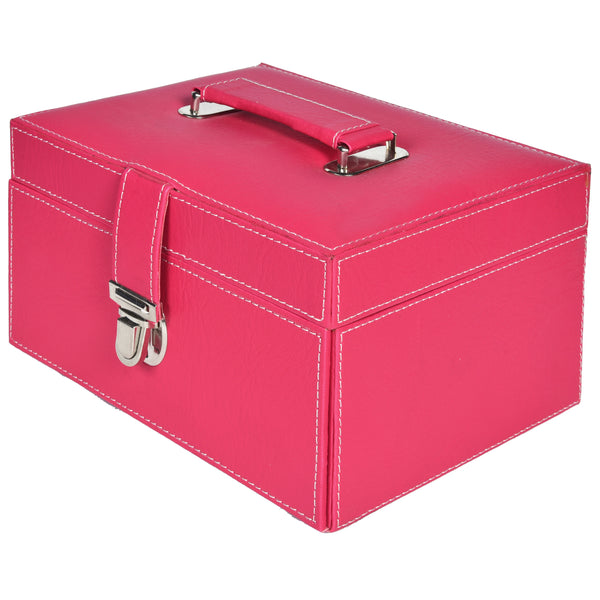 GLAM Organiser storage box for Travel Jewellery Vanity - Grey Pink - Nestasia Home Decor