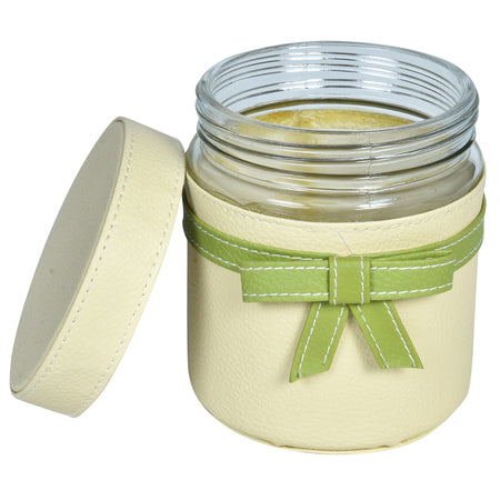GLAM Jars and Tray Set - Green Off White