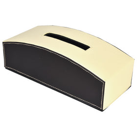 GLAM Tissue Box - Off White Dark Brown