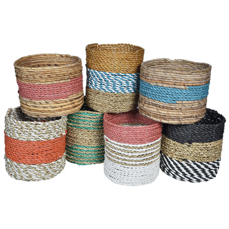 NATURA Planter Basket-colourful