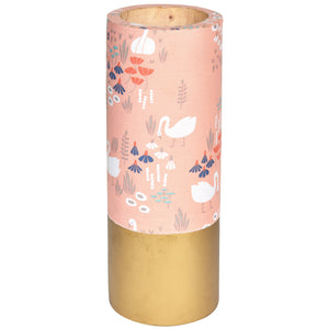 TROPICAL Floral Vase - Peach & Gold - Flower pattern - Nestasia Home Decor