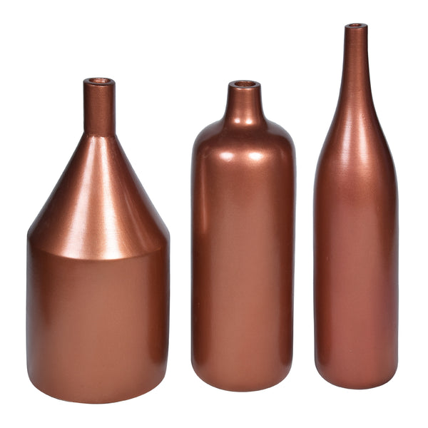 ARITZIA Vase - Set of 3 - Rose Gold - Nestasia Home Decor