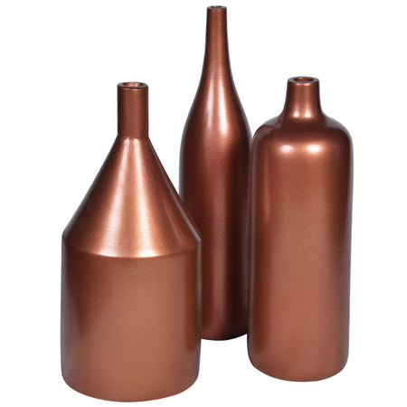 ARITZIA Vase-Set of 3- Rose Gold