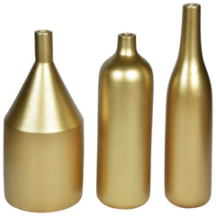 ARITZIA Vase - Set of 3 - Gold - Nestasia Home Decor