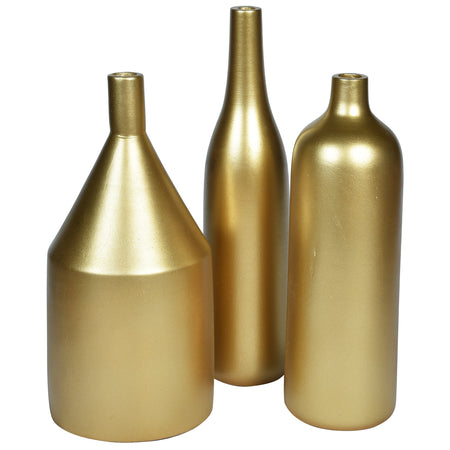 ARITZIA Vase - Set of 3 - Gold