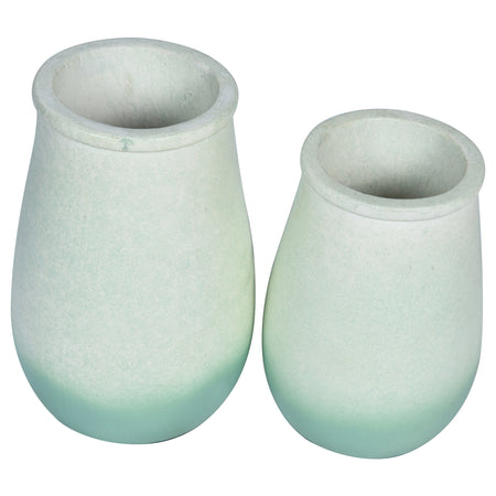 JARDIN Vase - Set of 2 - Green & White Ombre