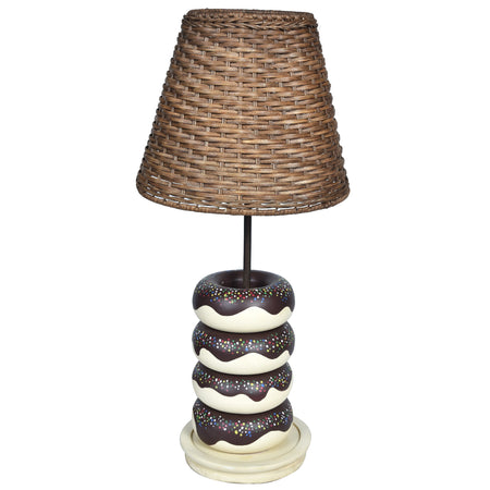 WONDER Donut Lamp-Rattan Shade