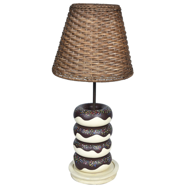 WONDER Donut Lamp - Rattan Lampshade - Nestasia Home Decor