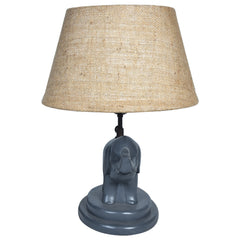 GAJAH Elehant Lamp - Jute Shade - Nestasia Home Decor