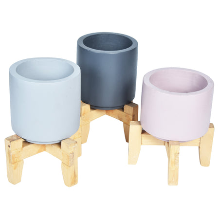 FLEUR Planter - Set of 3 - Small - Cream Pink Grey