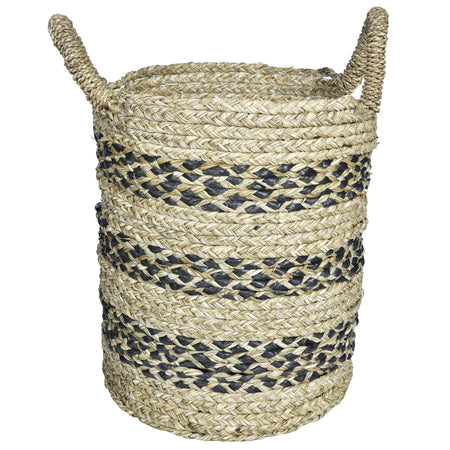 ECO Woven Storage Basket - Set of 3 - Grey and Natural