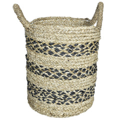 ECO Woven Storage Basket - Set of 3 - Grey and Natural - Nestasia Home Decor