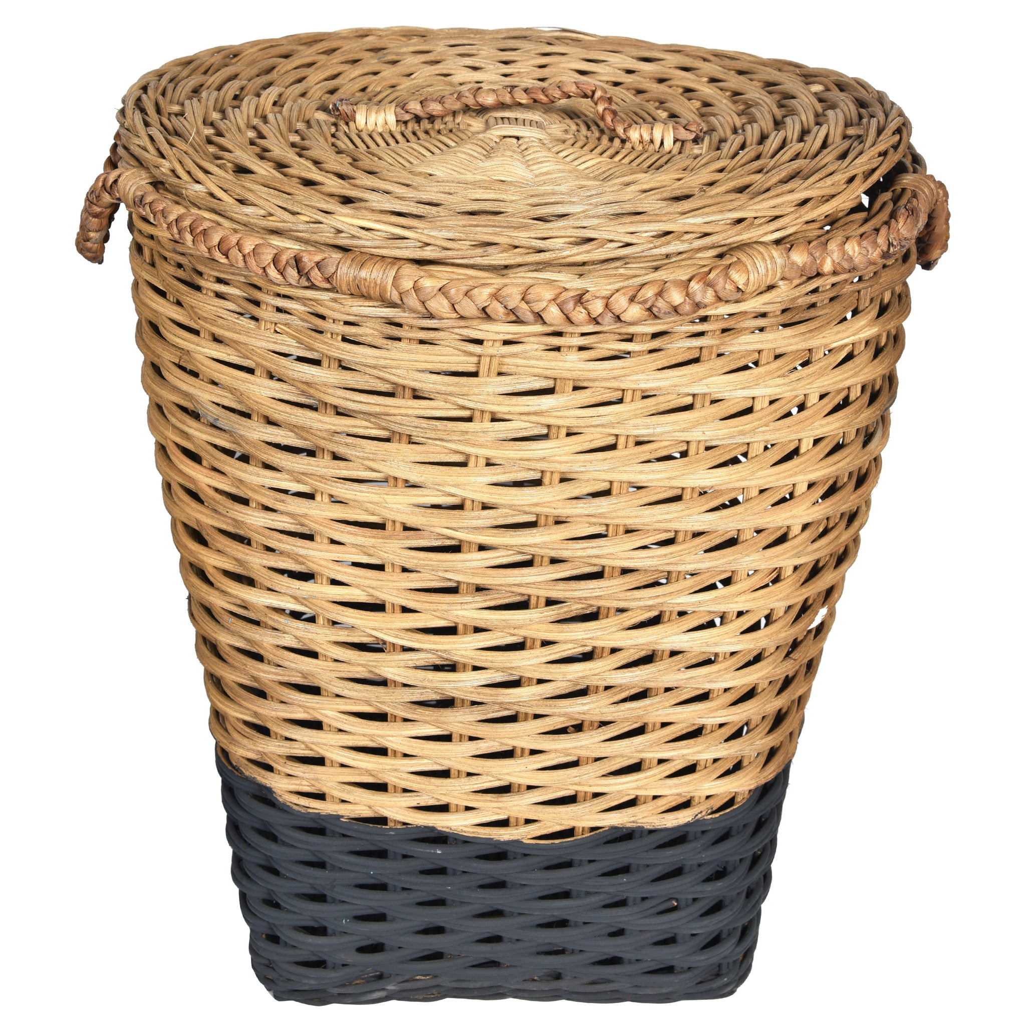 MOD Laundry Storage Basket with Lid - Natural & Black