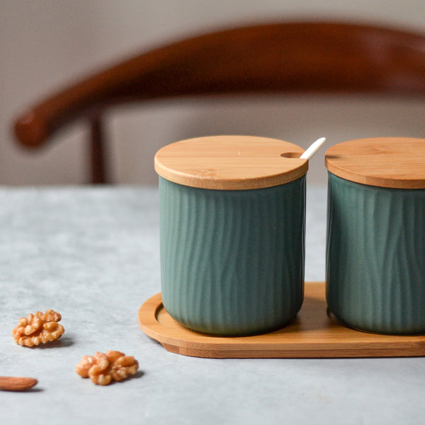 Green Spice Jar Set
