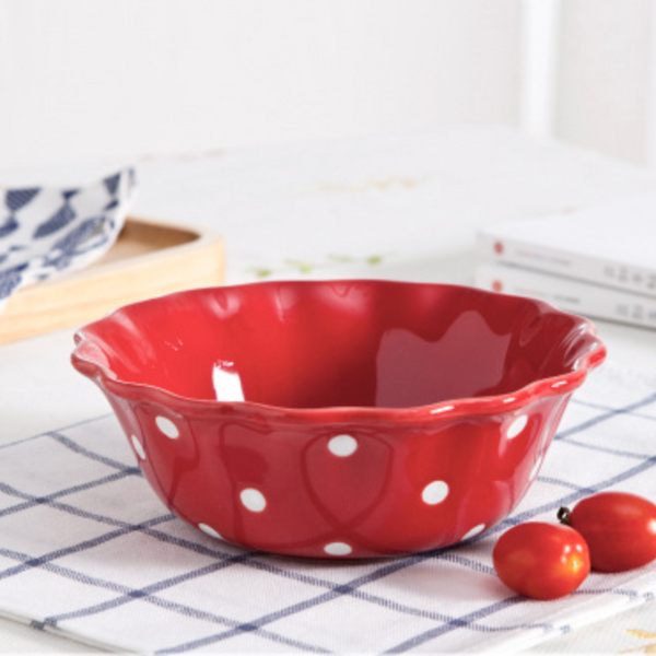Dots Bowl Red