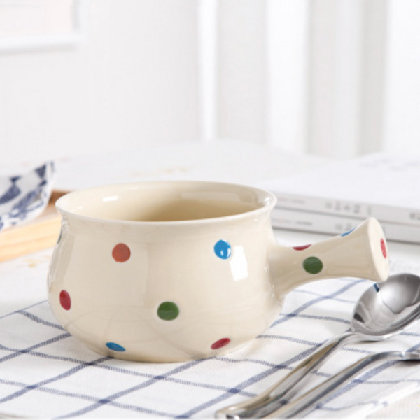 Dots Ceramic Pot Colourful