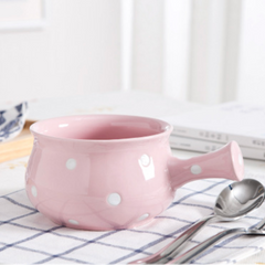 Dots Ceramic Pot Pink