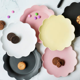 Floral Snack Plates