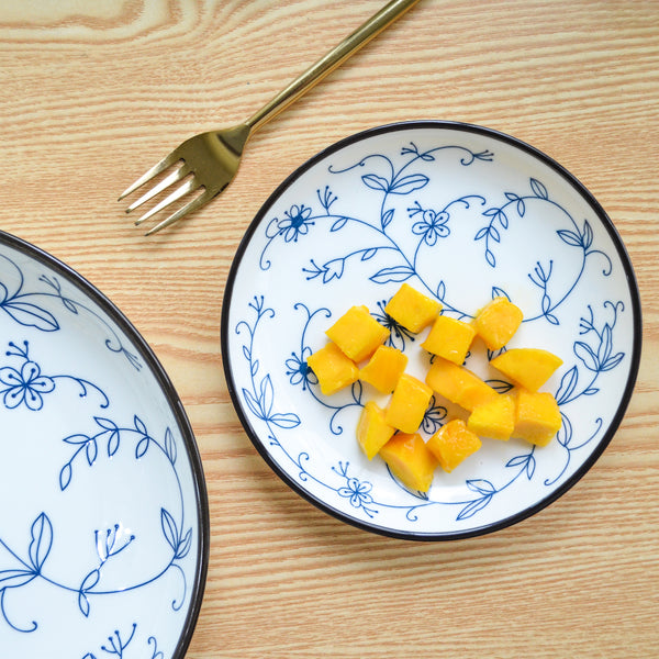 Blue and white Floral Side Plate