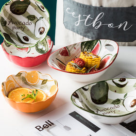 Modern Fruit Bowl with Handles
