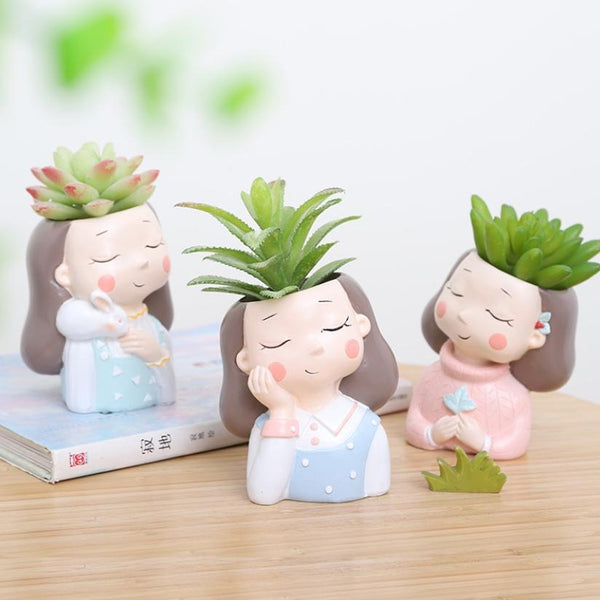 Blue Girl Planter