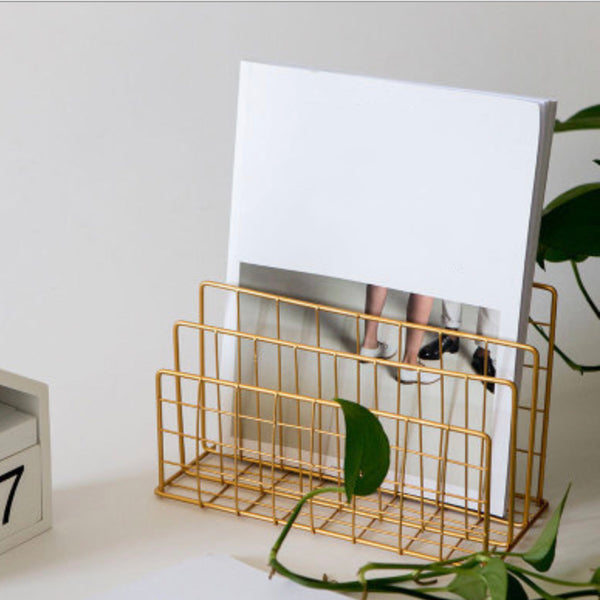 Gold Magazine Rack