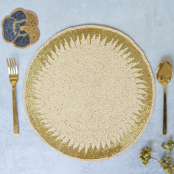 Gold and White Table Mat