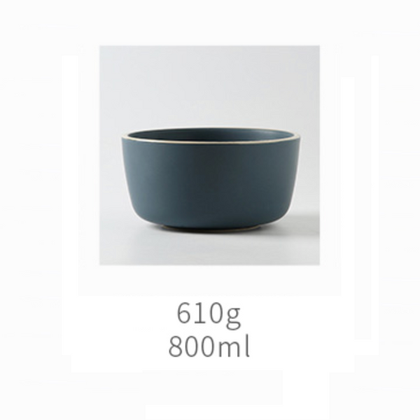 Navy Blue Ceramic Serving Bowl Medium
