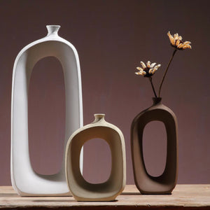 Hollow Vase White