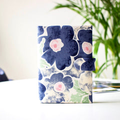 Floral Passport Cover- Blue - Nestasia Home Decor