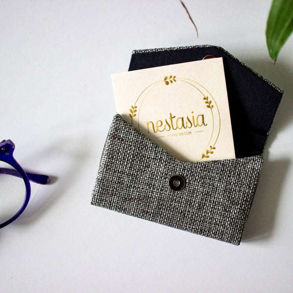 Visiting Card Cover- Grey - Nestasia Home Decor