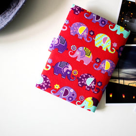 Elephant Passport Cover - Red