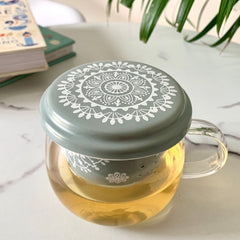 MAGNIFIQUE Tea Mug with Infuser - Green