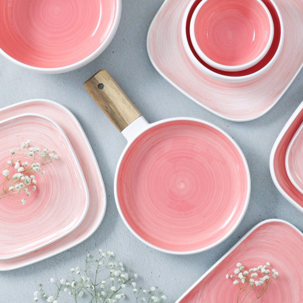 Pink Plate with Handle