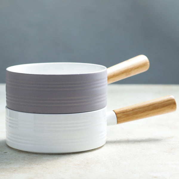 MAGNIFIQUE bowl with bamboo handle - lavender