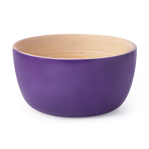 Round Bamboo Ombre Bowl-Purple (Set Of 2) - Nestasia Home Decor