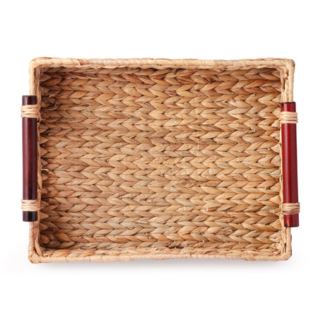 HYACINTHE Tray With Wooden Handle (Set Of 3)