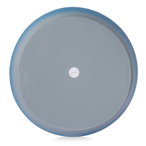 Round Bamboo Ombre Tray- Blue And Grey - Nestasia Home Decor