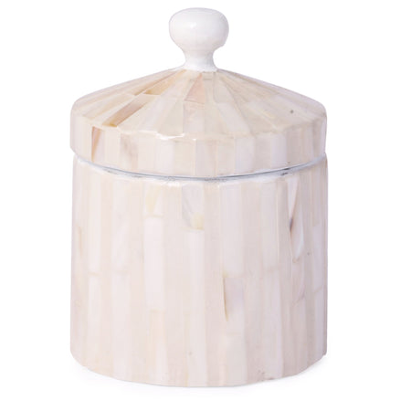 Mother Of Pearl Jewellery Box With Lid-White