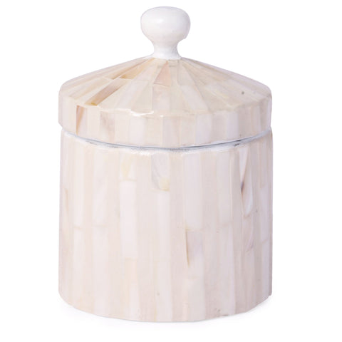Mother Of Pearl Jewellery Box With Lid-White MOP