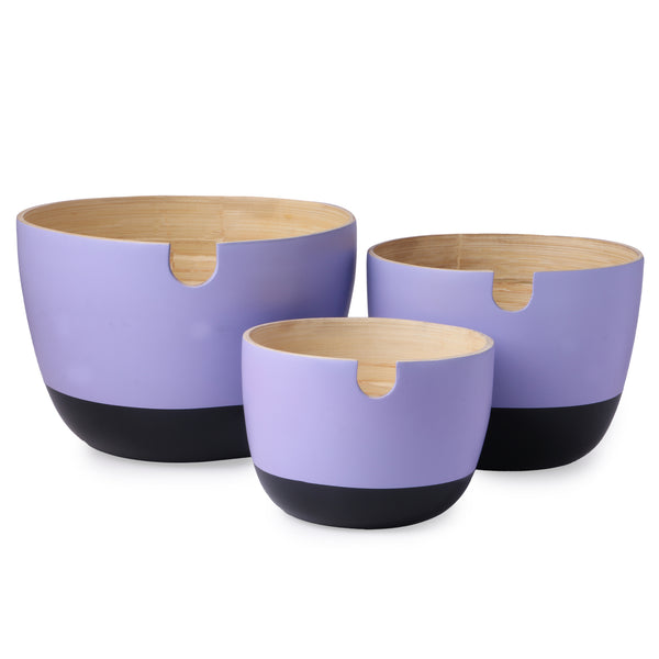 Bamboo Noodle Salad Bowls Set - Nestasia Home Decor