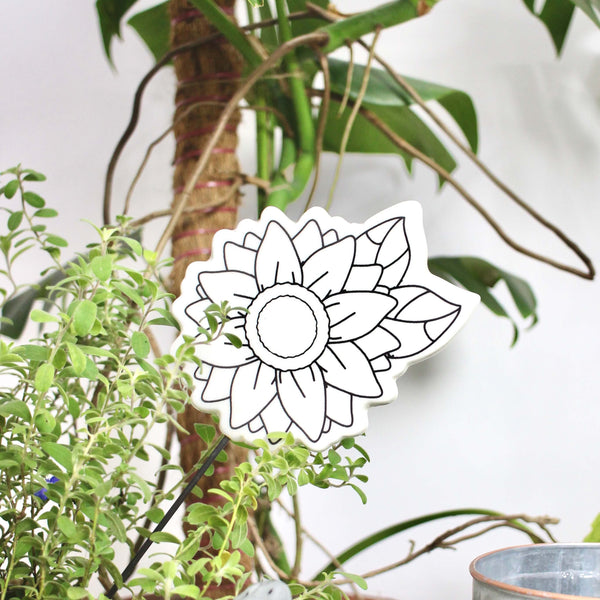 FLORA DIY Flower garden stake - Nestasia Home Decor